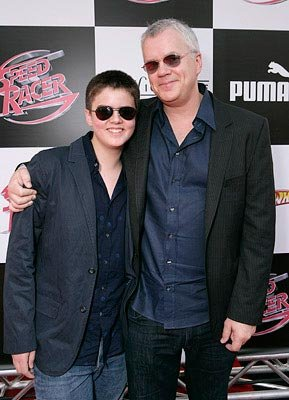Tim Robbins and son at the Los Angeles premiere of Warner Bros. Pictures' Speed Racer