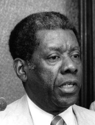 This photo taken Aug. 1, 1980 shows Jesse Hill Jr., an Atlanta businessman and a leader in the civil Rights Movement. Hill has died at the age of 86. Hill was born in St. Louis and served on the board of directors for a diverse set of companies and nonprofits. He joined the Atlanta Life Insurance Company as an actuarial assistant and became the first African-American president of the Atlanta Chamber of Commerce, now called the Metro Atlanta Chamber. In 1960, Hill and other civil rights leaders founded the Atlanta Inquirer, a newspaper created to serve the city's African-American community. He served as publisher until 1985. (AP Photo/Atlanta Journal-Constitution, Steve Deal)