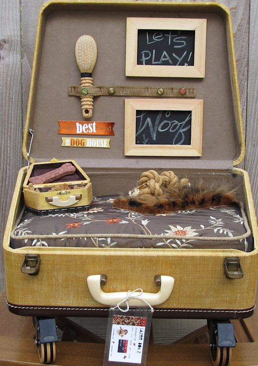 12 incredible pet beds on Etsy suitcase and then some