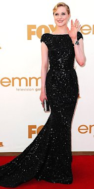 Evan Rachel Wood was absolutely stunning in glittering Elie Saab.