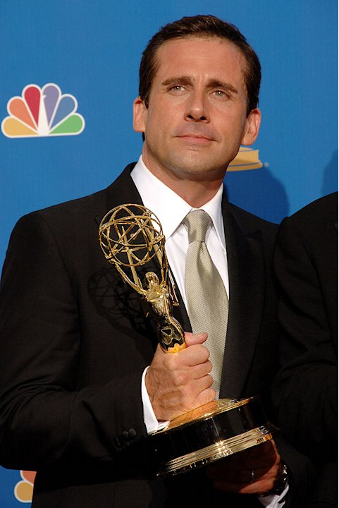 "Steve Carrell of ""The Office,"" winner of Outstanding Comedy Series at the 58th Annual Primetime Emmy Awards."