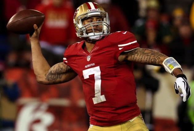 Colin Kaepernick, whose quarterbacking future was made possible by prep basketball success — Getty