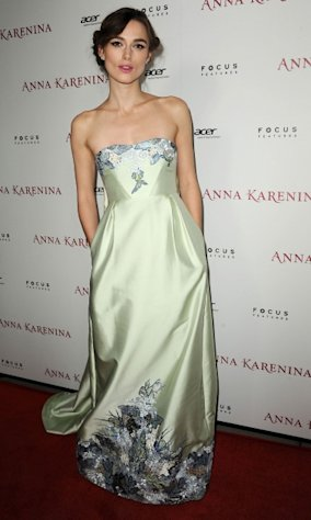 Keira Knightley arrives at the premiere of Focus Features&#39; &#39;Anna Karenina&#39; held at ArcLight Cinemas in Hollywood on November 14, 2012 -- Getty Images