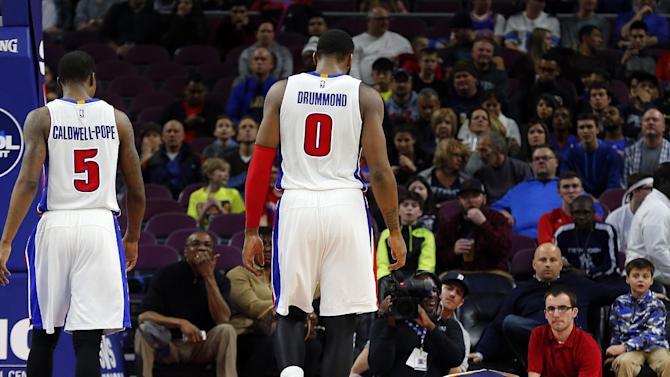 Indiana Pacers guard Rodney Stuckey (2) lies on the floor after being injured against the Detroit Pistons in the second half of an NBA basketball game in Auburn Hills, Mich., Friday, Dec. 26, 2014. (AP Photo/Paul Sancya)