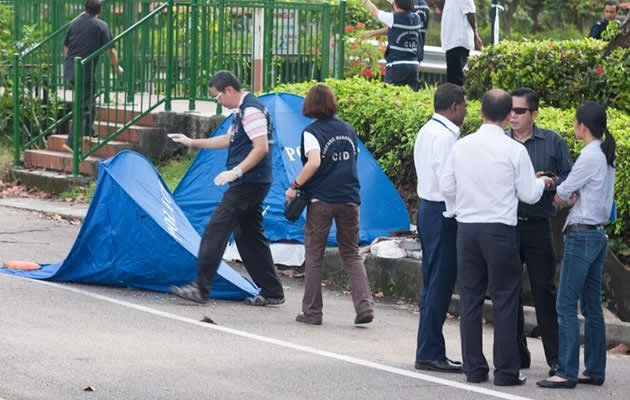 A woman's body was found in Whampoa River near McNair Road on Thursday morning. (Singapore Police Force Twitter photo)
