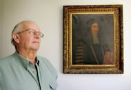 Mike Hastings pictured in front of a portrait of a relative in his home town of Jerilderie, some 750 kilometres (465 miles) southwest of Sydney, in 2005. Hastings, an Australian forklift driver who some historians argued was the true heir to the British throne has died in the small New South Wales town he called home, his local newspaper reported Thursday