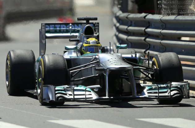 Mercedes Formula One driver Nico Rosberg of Germany drives during the second practice session of the Monaco F1 Grand Prix