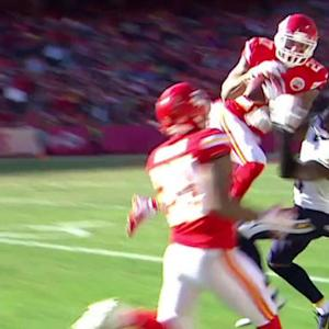 Kansas City Chiefs safety Kurt Coleman intercepts  San Diego Chargers quarterback Philip Rivers