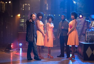 Director Bill Condon , Beyonce Knowles , Anika Noni Rose , Jennifer Hudson and Keith Robinson on the set of DreamWorks Pictures' and Paramount Pictures' Dreamgirls