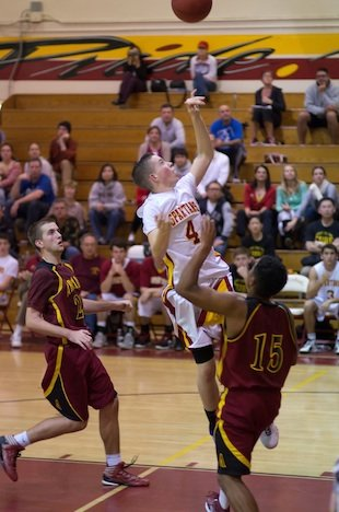 La Canada sophomore Brendan Hempstead scored 29 points hours after his father's funeral &#x002014; Eric D. Danielson photo