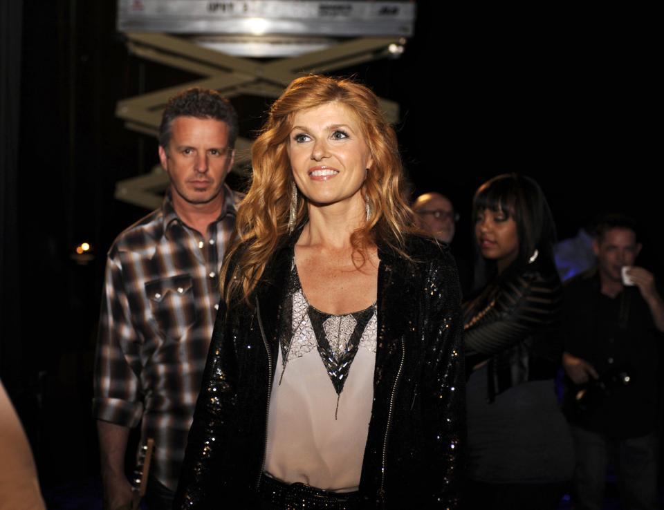 "This image released by ABC shows Connie Britton as country superstar Rayna from the new series ""Nashville"" premiering Oct. 10, at 10 p.m. EST on ABC. (AP Photo/ABC, Katherine Bomboy-Thornton)"