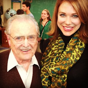 "William Daniels visits the set of ""Girl Meets World."" (Tumblr)"
