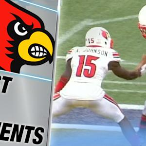 Louisville's Gerod Holliman Takes in the Pick Six | ACC Must See Moment