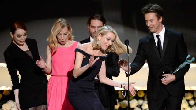 Emma Stone's SAG Awards Dress Almost Killed Naomi Watts