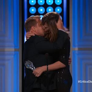 Allison Janney Lays Passionate Kiss on James Corden