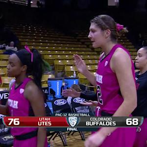 Recap: Utah women's basketball finishes off season sweep of Colorado