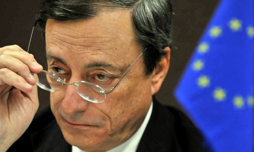 &lt;p&gt;Mario Draghi, president of the European Central Bank (ECB), speaks during a press conference in Tokyo on October 13, 2012 as part of the IMF/World Bank annual meetings. Draghi said Saturday reforms to the way European Union banks are supervised would probably not be implemented for another &quot;year or so&quot;.&lt;/p&gt;