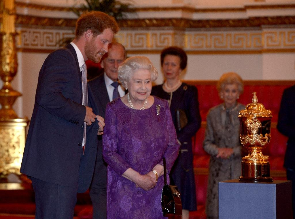 Rugby World Cup stars hosted at Buckingham Palace