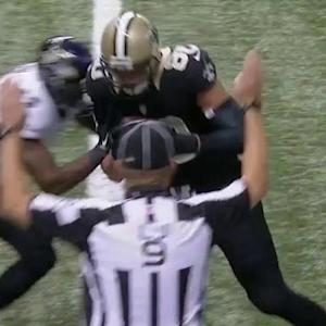 New Orleans Saints quarterback Drew Brees finds tight end Jimmy Graham for a 2-yard touchdown