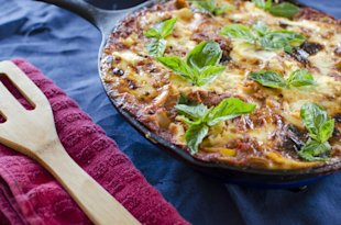 Skillet Vegetarian Lasagna Recipe | Running Blonde