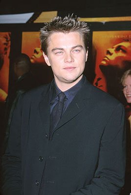 Leonardo DiCaprio at the premiere of 20th Century Fox's The Beach