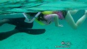 Girl, 5, Swims With Sharks: Caught on Tape