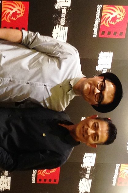 Andy Lau (right) says he's interested in investing in property in Singapore. (Yahoo photo)