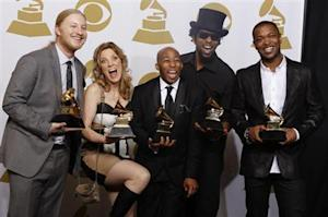 Tedeschi Trucks Band celebrate backstage after winning Best Blues Album at the Grammys in Los Angeles