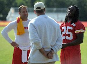 With Chiefs' Charles out, Davis, Gray get chances