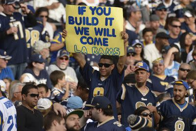 Roger Goodell says there will be no team in Los Angeles next season, according to report