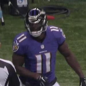 Baltimore Ravens quarterback Tyrod Taylor to wide receiver Kamar Aiken for 27 yards