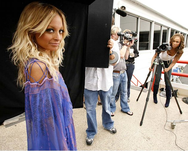Nicole Richie visits The Tyra Banks Show on the CW. 