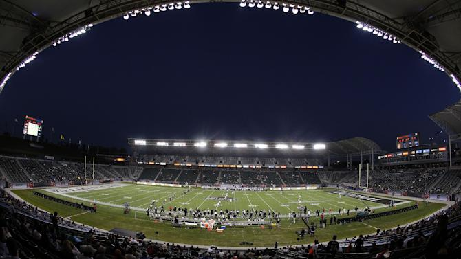A overall general view of the Home Depot Center during the NFLPA Collegiate Bowl on Saturday, Jan. 19, 2013 in Carson, Calif. (Ric Tapia/AP Images for NFLPA)