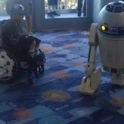 WATCH: R2-D2 Does Dance With Boy In Wheelchair At Star Wars Convention