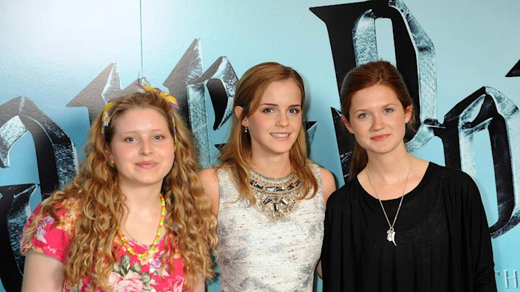 Harry Potter and the Half Blood Prince UK Photocall 2009 Jessie Cave Emma Watson Bonnie Wright