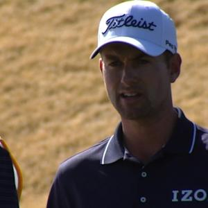 Webb Simpson drops 10-footer at Waste Management