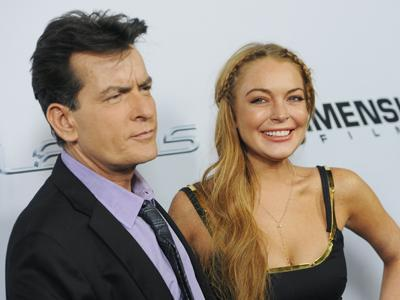 Lohan and Sheen Hit the Red Carpet in LA