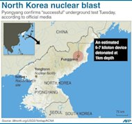 "Graphic showing Punggye-ri nuclear test site in North Korea, in the region where a nuclear test was detected on Tuesday. A defiant North Korea on Tuesday staged its most powerful nuclear test yet and warned of ""stronger"" action to follow if the ensuing wave of global condemnation translated into tougher sanctions"