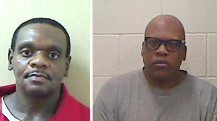 Booking photos of Henry McCollum and brother Leon Brown