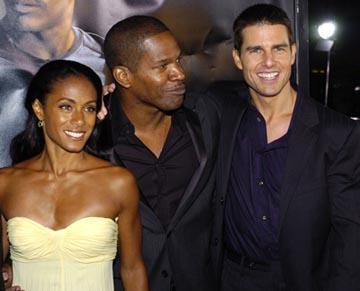 Premiere: Jada Pinkett Smith, Jamie Foxx and Tom Cruise at the LA premiere of Dreamworks SKG's Collateral -2004