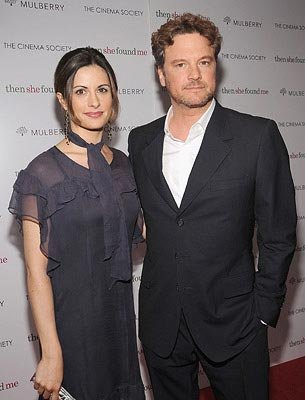 Colin Firth and wife at the New York premiere of ThinkFilm's  Then She Found Me