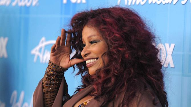 Chaka Kahn poses backstage at the American Idol Finale on Wednesday, May 23, 2012 in Los Angeles. (Photo by Jordan Strauss/Invision/AP)