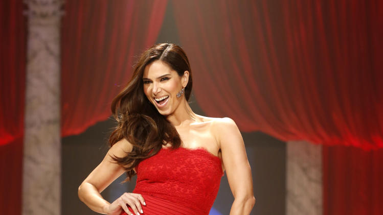 Roselyn Sanchez walks the runway at the Red Dress Collection 2013 Fashion Show, on Wednesday, Feb. 6, 2013 in New York. (Photo by John Minchillo/Invision/AP)