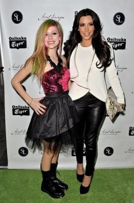 "Avril Lavigne and Kim Kardashian attend the release party for Avril Lavigne's new album ""Goodbye Lullaby"" at SL Lounge in NYC, on March 8, 2011 -- Getty Images"