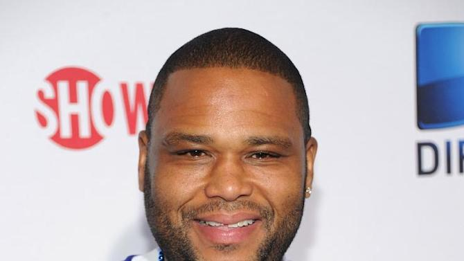 Anthony Anderson arrives at DIRECTV's Seventh Annual Celebrity Beach Bowl, on Saturday, Feb. 2, 2013 in New Orleans. (Photo by Evan Agostini/Invision/AP)
