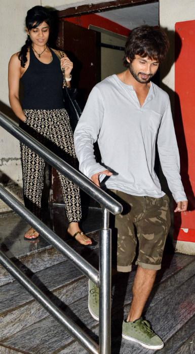Spotted: Shahid and a mystery woman
