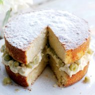 This delightfully old-fashioned sponge recipe is a taste of summer. We hope you enjoy the sweet and tart combination as much as we did