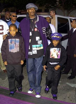Snoop Dogg and kids at the L.A. premiere of MGM's Soul Plane