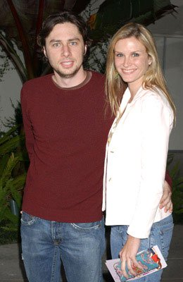 Premiere: Zach Braff and Bonnie Somerville at the L.A. premiere of Paramount's Mean Girls - 4/19/2004