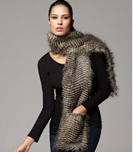 fur scarf